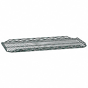 "48""W x 14""D Wire Shelf, Epoxy Finish, 250 lb. Shelf Capacity, Hunter Green"