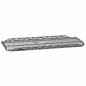 "48""W x 14""D Wire Shelf, Epoxy Finish, 250 lb. Shelf Capacity, Silver Hammertone"