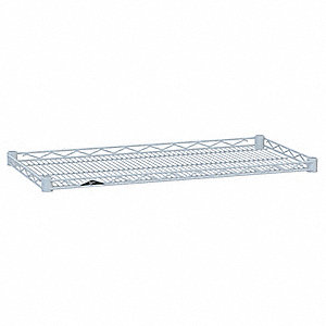 "48""W x 21""D Wire Shelf, Epoxy Finish, 250 lb. Shelf Capacity, White"