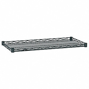 "36""W x 21""D Wire Shelf, Epoxy Finish, 250 lb. Shelf Capacity, Smoked Glass"