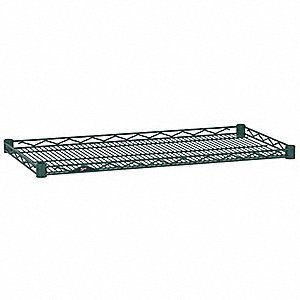 "Wire Shelf,48"" W,18"" D,Epoxy,PK4"