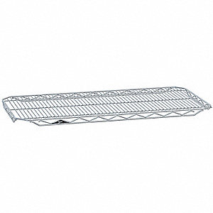 "36"" x 18"" Steel Wire Shelf with 300 lb. Capacity, Silver"