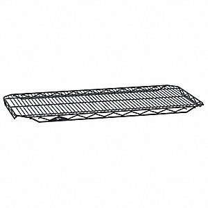 "Wire Shelf,48"" W,21"" D,Epoxy,PK4"