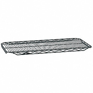 "48""W x 24""D Wire Shelf, Epoxy Finish, 300 lb. Shelf Capacity, Smoked Glass"