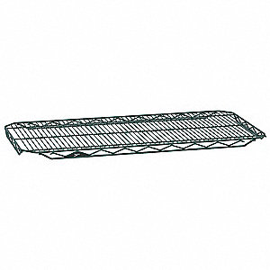 "48""W x 24""D Wire Shelf, Epoxy Finish, 250 lb. Shelf Capacity, Hunter Green"