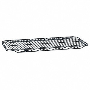 "36""W x 14""D Wire Shelf, Epoxy Finish, 250 lb. Shelf Capacity, Black Matte"
