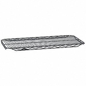 "48""W x 24""D Wire Shelf, Epoxy Finish, 250 lb. Shelf Capacity, Silver Hammertone"