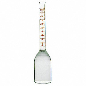 Narrow Mouth Cylindrical Babcock Bottle, Glass, 5mL, Clear, 12 PK