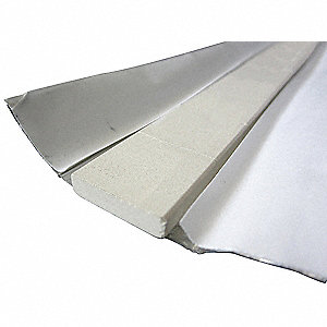Ceramic Weld Backing,Flat,1 In. L
