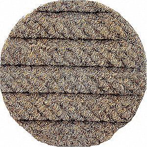 Tan Recycled PET Fabric, Entrance Mat, 6 ft. Width, 6 ft. Length