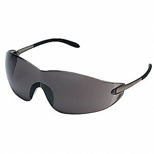 BLACKJACK® Scratch-Resistant Safety Glasses, Gray Lens Color