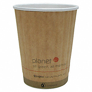 12 oz. Paper Disposable Hot Cup, Brown, 1000 PK