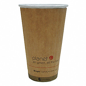 16 oz. Paper Disposable Hot Cup, Brown, 600 PK