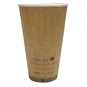 20 oz. Paper Disposable Hot Cup, Brown, 600 PK