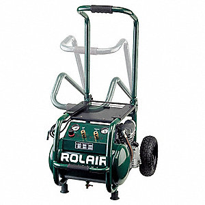 2.5 HP, 115VAC, 5.3 gal. Portable Electric Oil-Lubricated Air Compressor, 130 psi