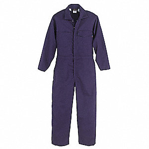 UltraSoft®, Flame-Resistant Coverall, Size: 58 Regular, Color Family: Blues, Closure Type: Zipper