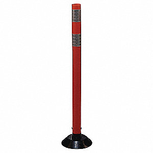 Delineator Post,Orange,HDPE,36 In