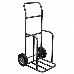 Traffic Cone Cart,Black,16 x 14 x 45 In