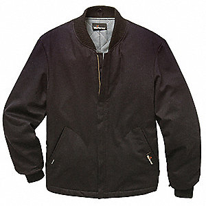 Black UltraSoft Flame-Resistant Jacket Liner,  XL,  7 oz,  Number of Inside Pockets 0