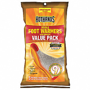 Foot Warmer, Up to 9 hr. Heating Time, Activates By Contact with Air
