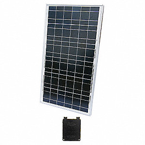 36-Cell Polycrystalline Solar Panel, 18.1VDC, 3.69A