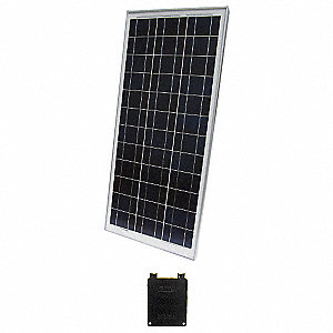 36-Cell Polycrystalline Solar Panel, 17.9VDC, 4.84A