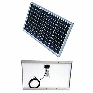36-Cell Polycrystalline Solar Panel, 17.3VDC, 1.77A