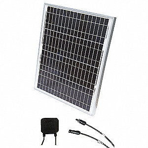 72-Cell Polycrystalline Solar Panel, 34.1VDC, 1.32A