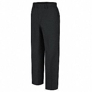 "Men's Work Pants, Cotton/Polyester, Color: Black, Fits Waist Size: 30"" x 34"""
