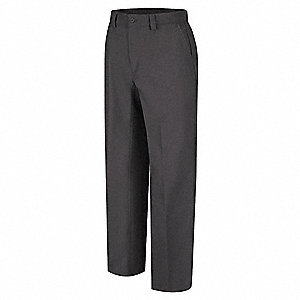 "Men's Work Pants, Cotton/Polyester, Color: Charcoal, Fits Waist Size: 34"" x 34"""