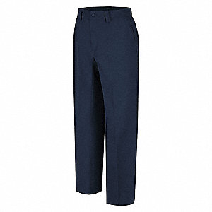 "Men's Work Pants, Cotton/Polyester, Color: Navy, Fits Waist Size: 36"" x 32"""