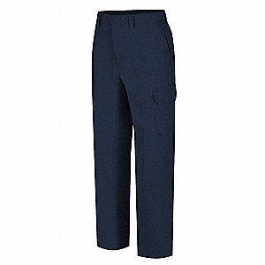 "Men's Work Pants, Cotton/Polyester, Color: Navy, Fits Waist Size: 44"" x 34"""