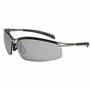 GX-8™ Scratch-Resistant Safety Glasses, Silver Mirror Lens Color