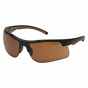 Rockwood Anti-Fog, Anti-Static, Scratch-Resistant Safety Glasses, Bronze Lens Color
