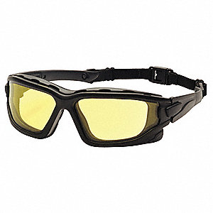 I-Force Slim Anti-Fog, Anti-Static, Scratch-Resistant Safety Glasses, Amber Lens Color