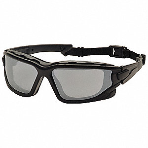 I-Force Slim Anti-Fog, Anti-Static, Scratch-Resistant Safety Glasses, Silver Mirror Lens Color