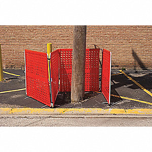 Barrier System,Orange,40 x 4 x 40 In