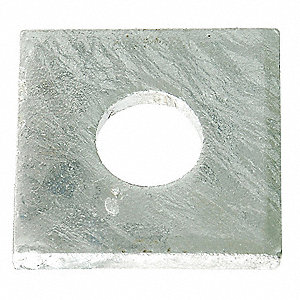 "Square Washer, 5/8"" Bolt, Steel, 3"" OD"