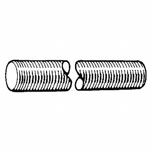 ROD THREADED ZP UNC 1/4X6FT