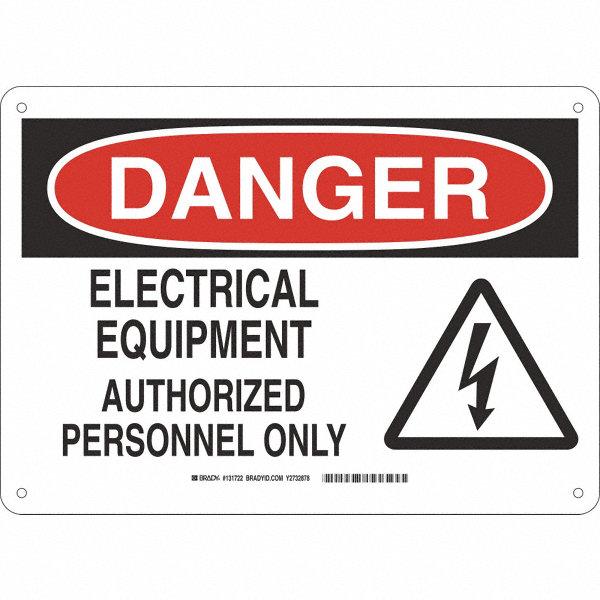 Fiberglass Safety Hazards : Brady electrical hazard danger fiberglass quot