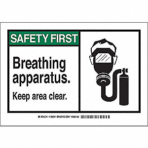 Safety Sign,10 x 14 In.,Polyester