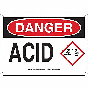 Danger Sign,10in. H x 14in. W,Plastic