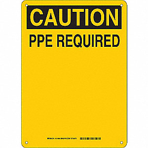 Caution Sign,10in. H x 14in. W,Plastic