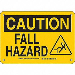 Caution Sign,7in. H x 10in. W,Plastic