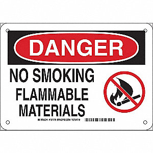 No Smoking Sign,7in.H x 10in.W,Aluminum