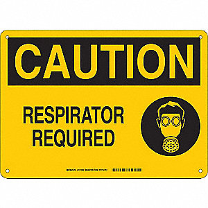 Caution Sign,10in. H x 14in. W,Aluminum