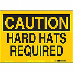 Caution Sign,10inHx14inW,Eco-Frnd Plastc