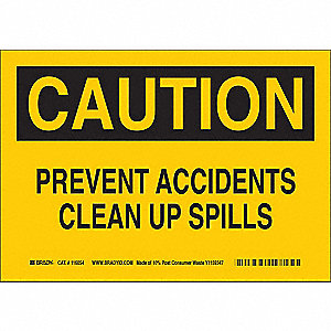 Caution Sign,10inHx14inW,Eco-Frndly Papr