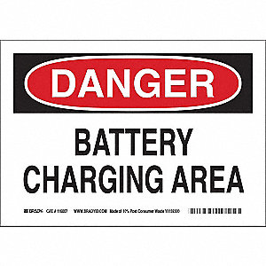 Danger Sign,10in.H x 14in.W,Acetate Film