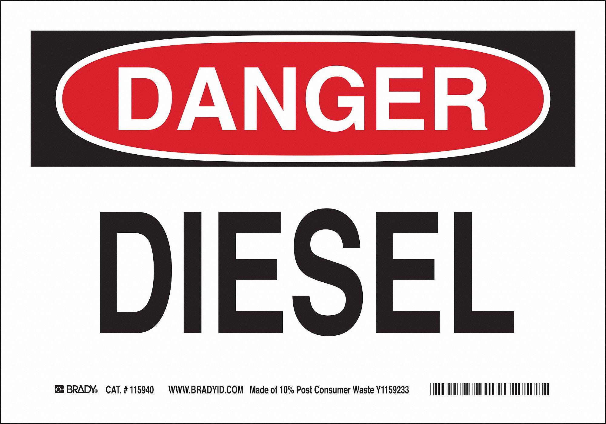 Brady Danger Sign (10 in H x 14 in W, Eco-Friendly Ppr). Model: 115941